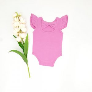 Berry Bow back flutter for toddler and baby girls