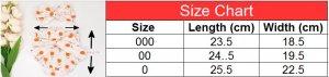 bloomer size chart