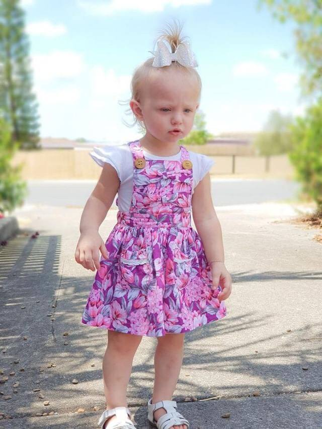 Aurora Bow Pinny With Headband Gallery 1