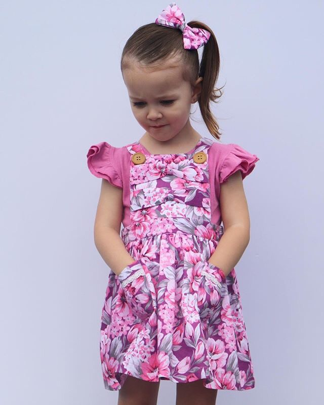 Aurora Bow Pinny With Headband Gallery 2