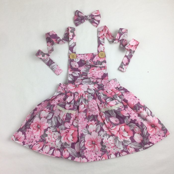Aurora Bow Pinny With Headband Gallery 3