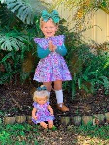 Makayla Flutter Pinny For Toddler girls