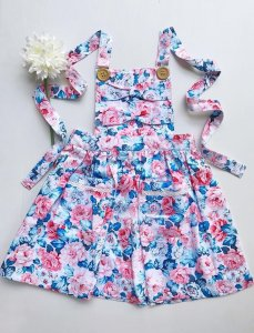 Skylar Bow Pinny for cute toddler girls