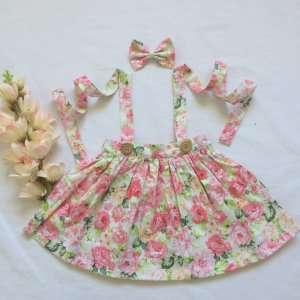 Hannah Suspender Skirt for baby girls