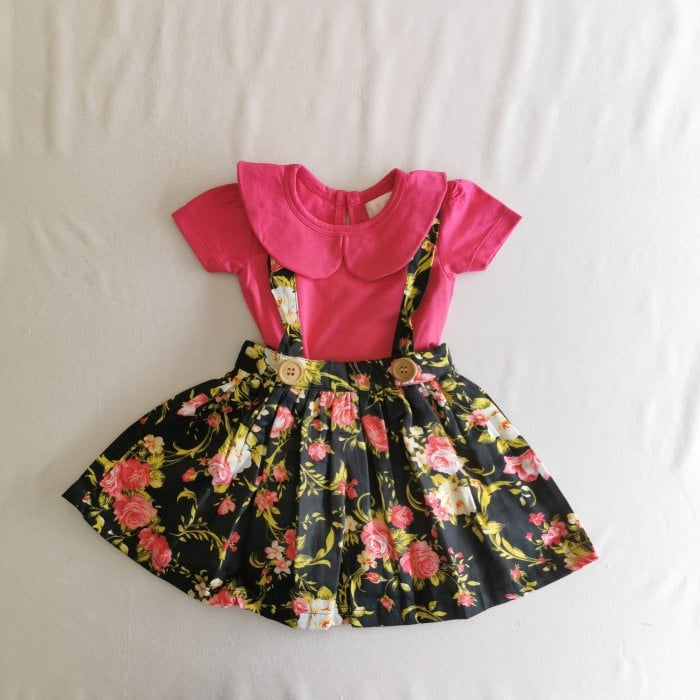 baby gril clothes riley suspender skirt