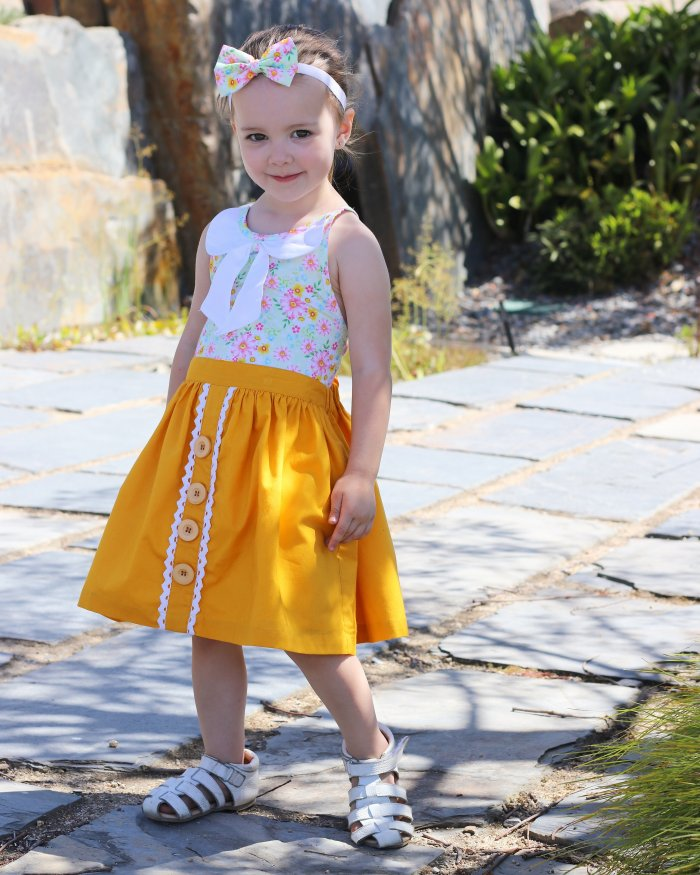 Private Mustard Button Lace Skirt With Headband Gallery 2