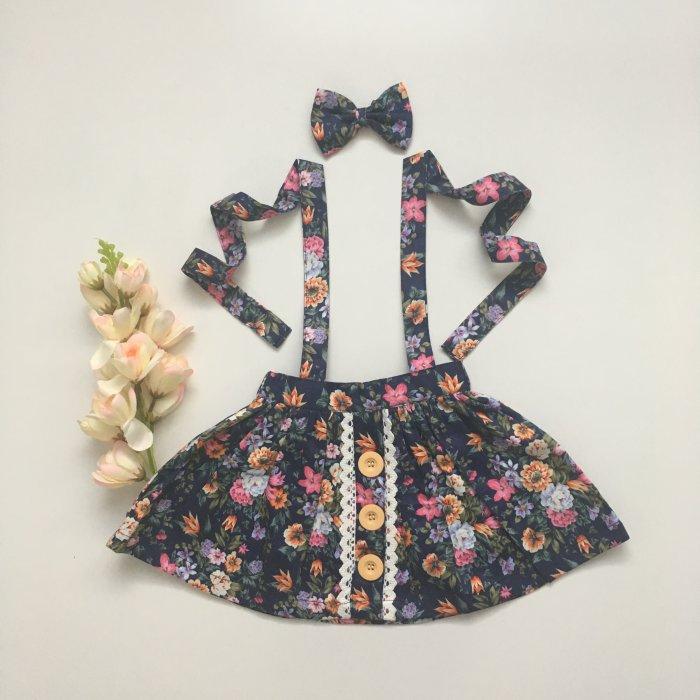Harlow Button Skirt