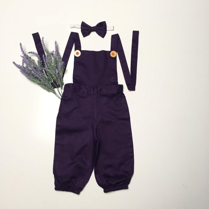 Black Currant Overall With Headband