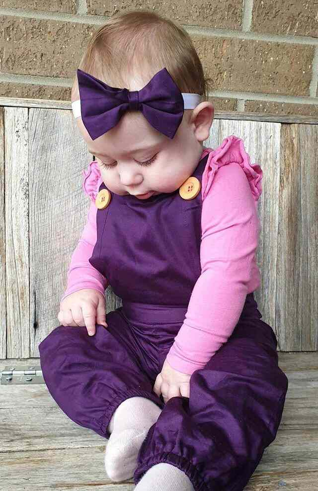 Black Currant Overall With Headband Gallery 1