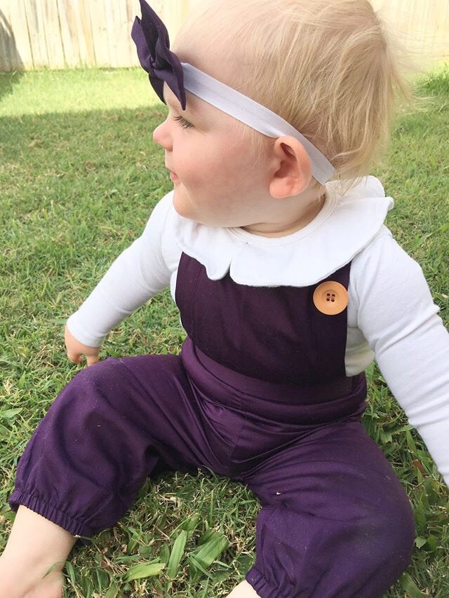 Black Currant Overall With Headband Gallery 2