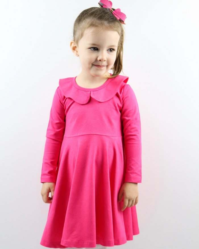 Fuchsia Twirly Dress