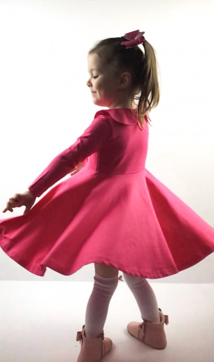Fuchsia Twirly Dress Gallery 1