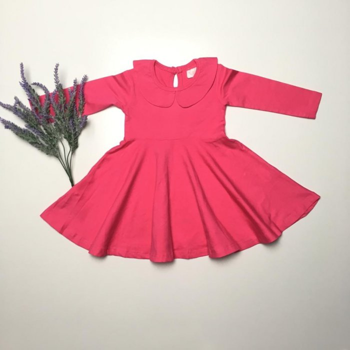 Fuchsia Twirly Dress Gallery 2