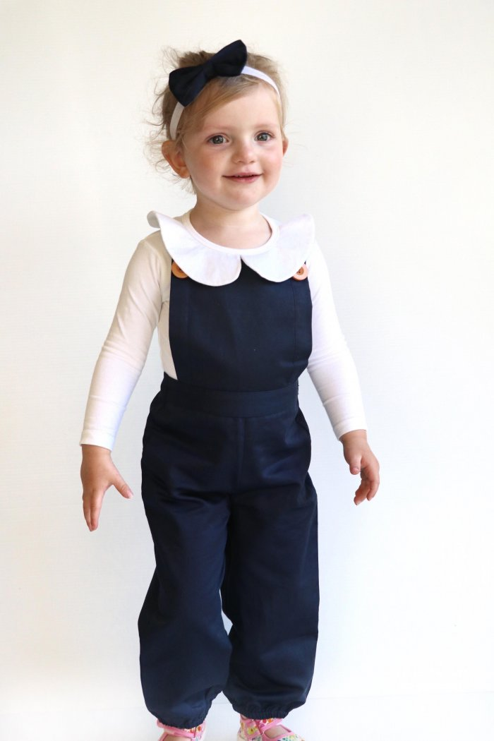 Navy Overall With Headband Gallery 1