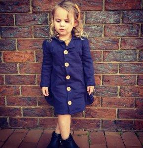 Navy colour Winter Coat for little girls