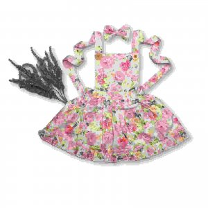 Floral Pinafore for baby girls