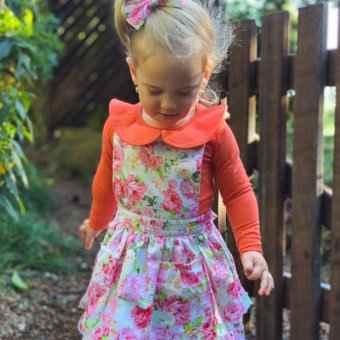 Cute girl wearing mix and match zessar dress