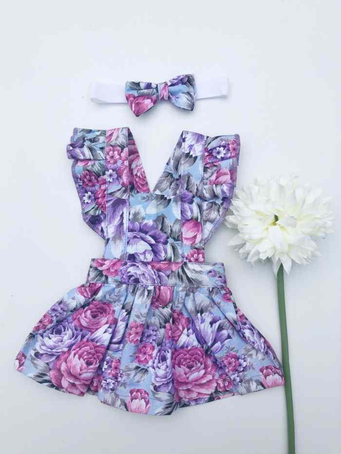 Makayla Dolly Flutter Pinny With Headband