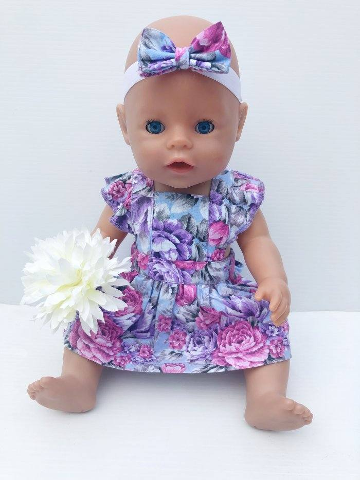 Makayla Dolly Flutter Pinny With Headband Gallery 1