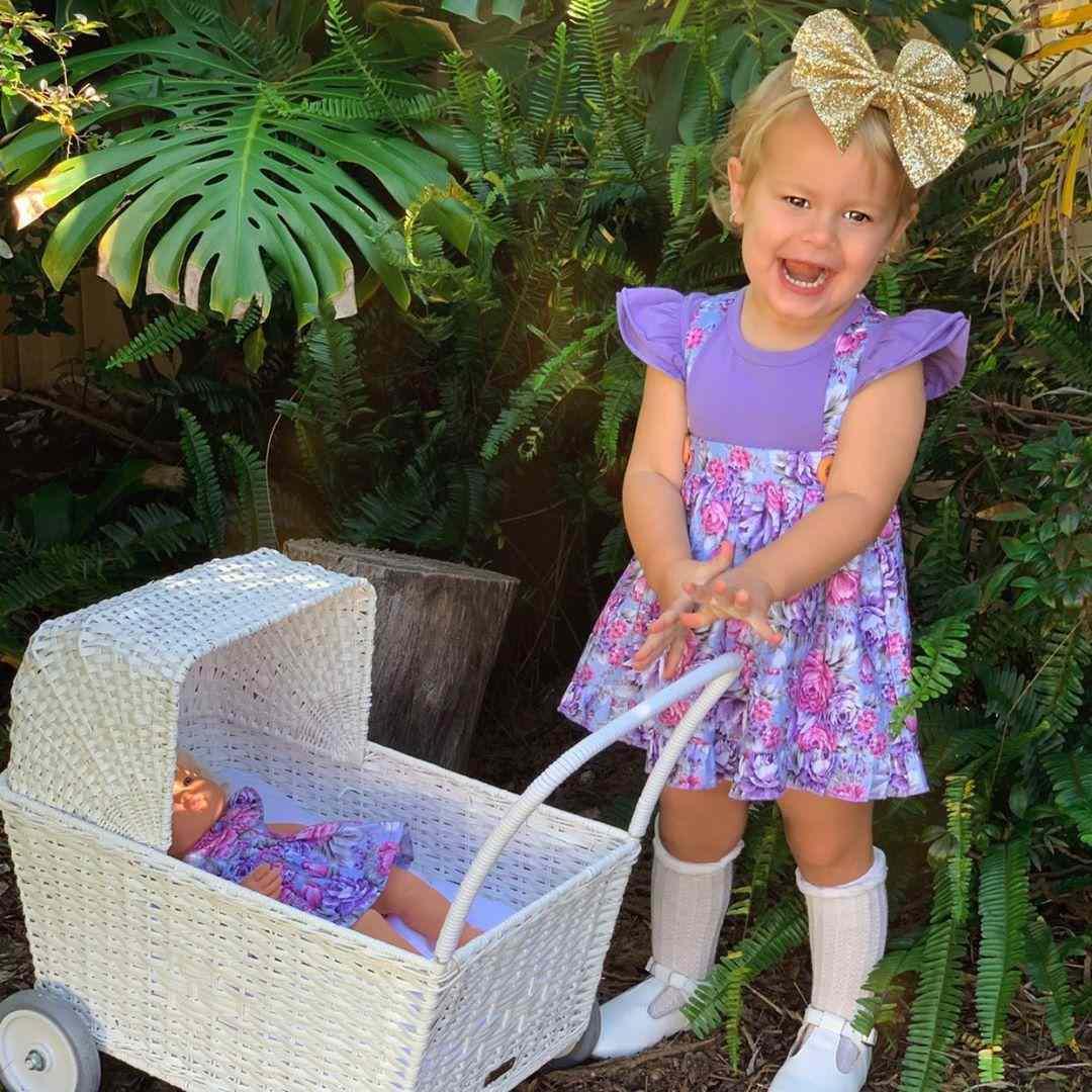 Makayla Frill Skirt dress for toddler girls