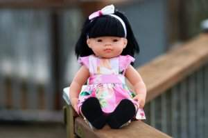 Allyce flutter pinny dress for dolls
