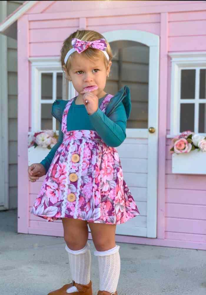 Aurora Button Skirt With Headband Gallery 1