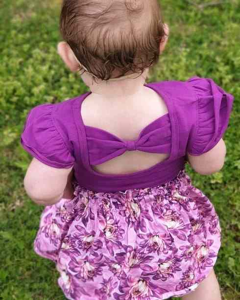 Bright Purple Bow Back Flutter Gallery 1