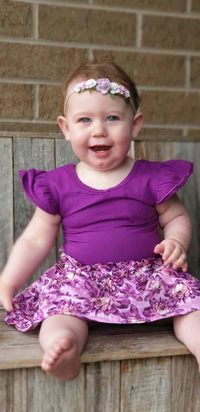 Bright Purple Bow Back Flutter Gallery 2