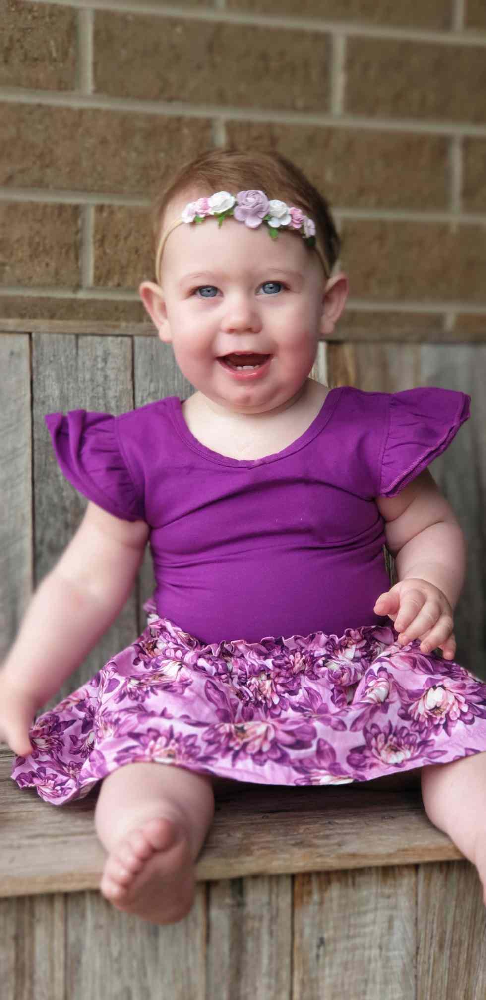 Bow Back Flutter for toddler girls