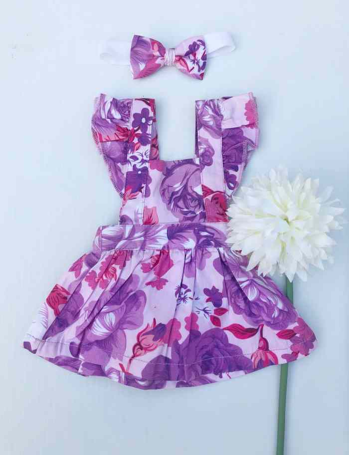Ciara Dolly Flutter Pinny With Headband