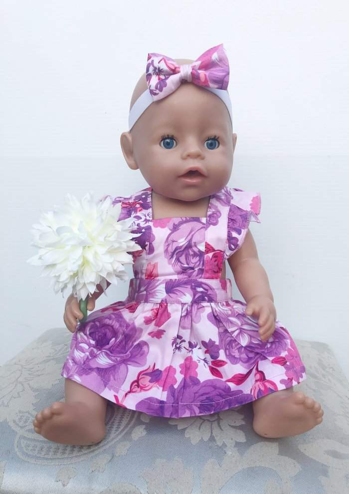 Ciara Dolly Flutter Pinny With Headband Gallery 2
