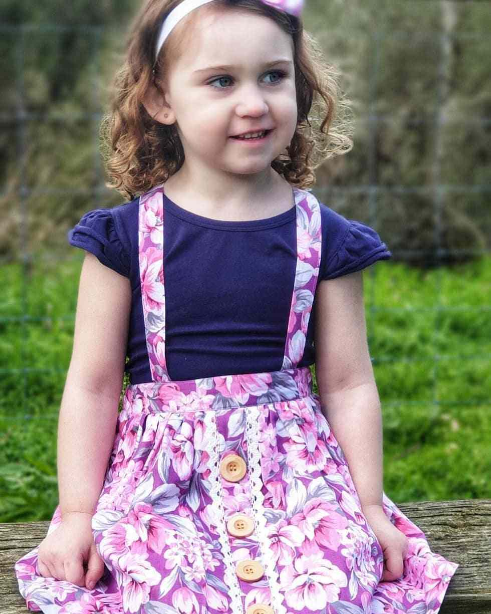 Button Skirt for toddler girls