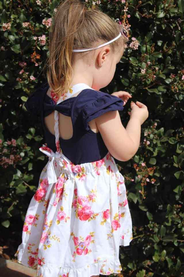 Navy Bow Back Flutter Gallery 3