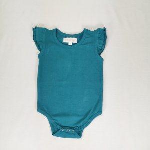 Teal Sleeve less flutter for baby girls
