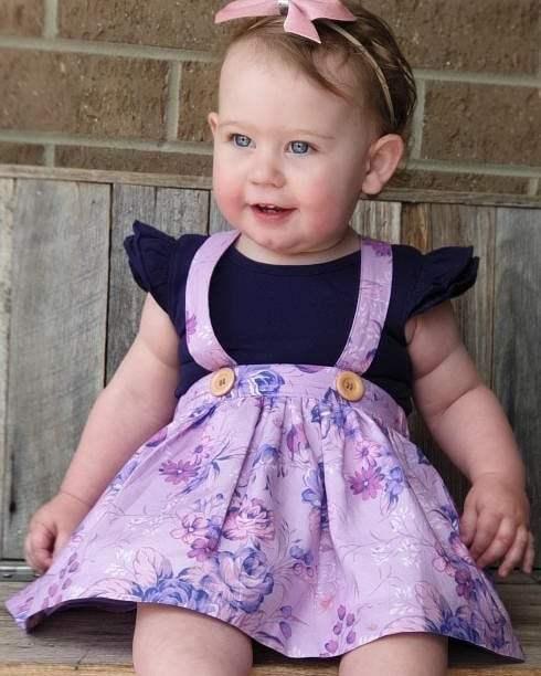 Ebony skirt with navy bow back