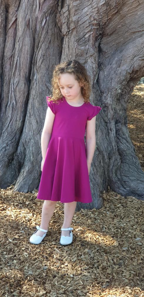 Boysen berry twirly dress