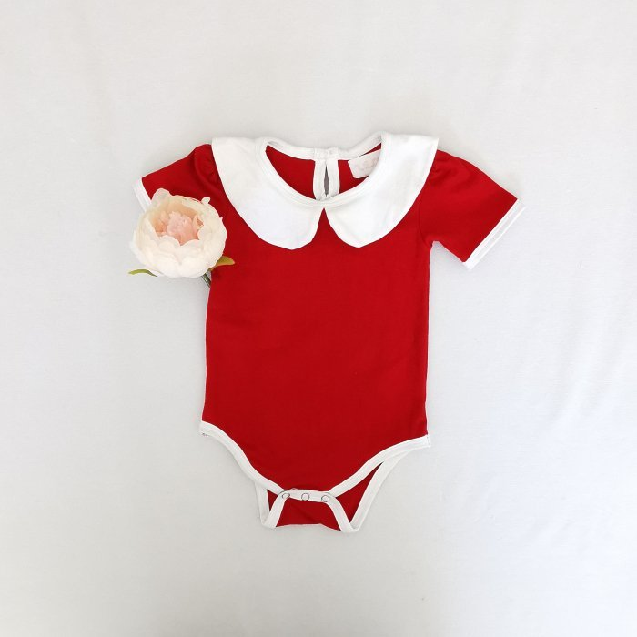 candy red peter pan top