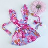 Gorgeous floral doll pinny