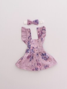 Stunning floral doll pinny