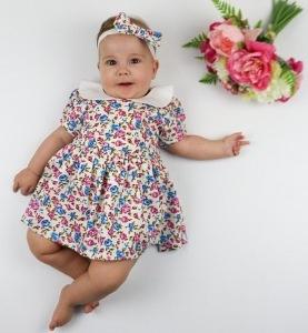 Cute girl wearing vintage dress