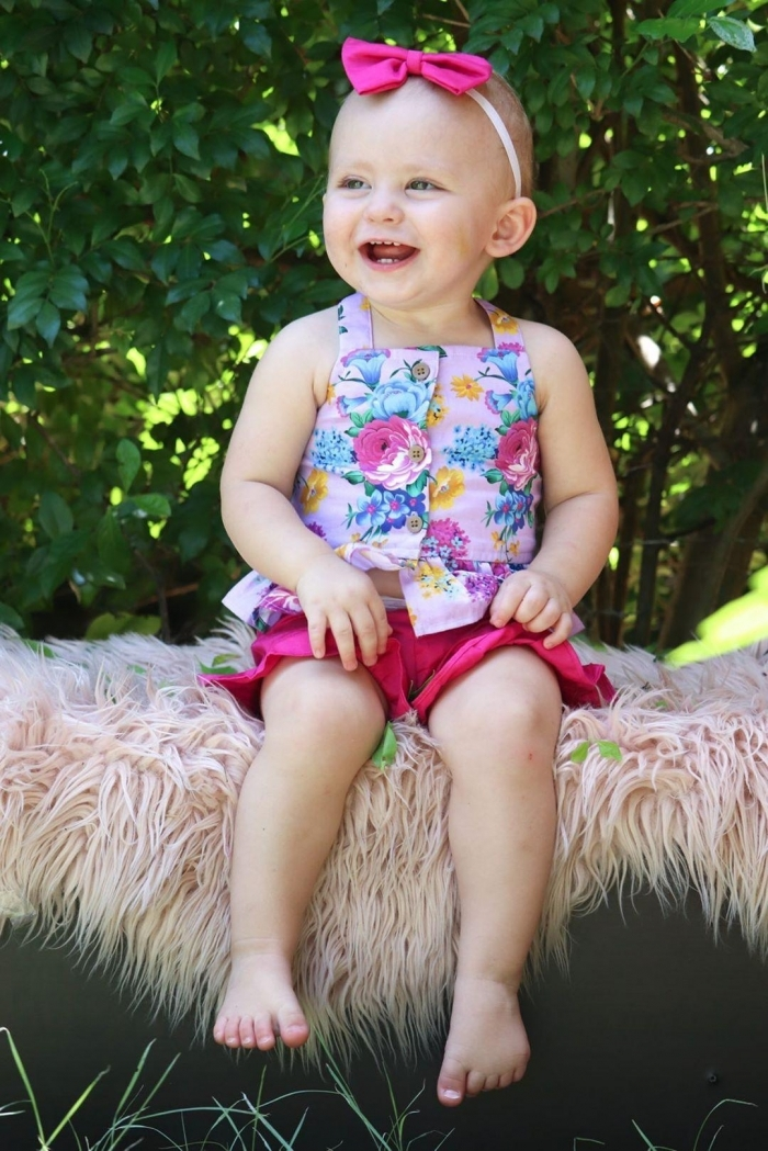 kenzie top and ruby pink shorts for girls