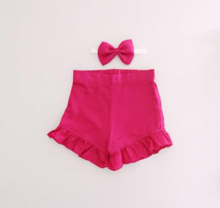Ruby Pink Frill Shorts