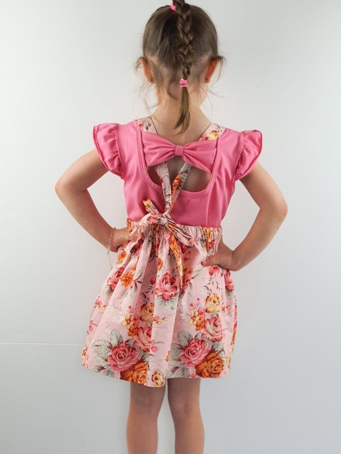 taffy pink bow back flutters
