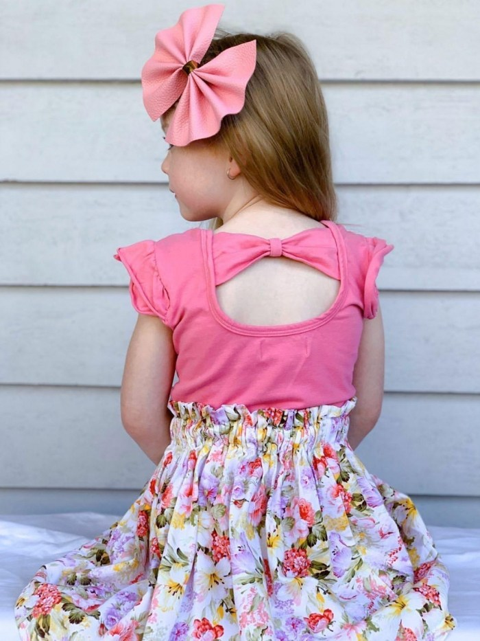 taffy pink bow back