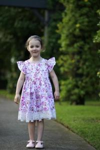 Gorgeous girl wearing lace dress