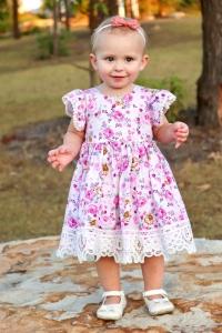 Cute girl wearing billie dress