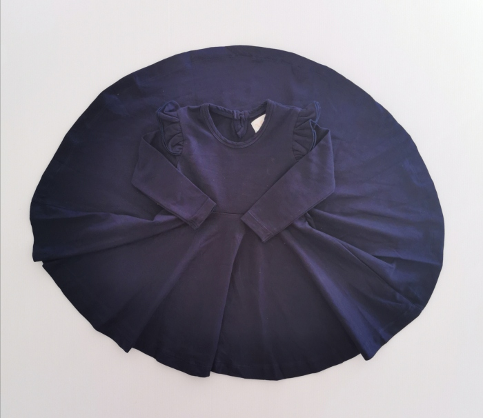 Navy twirl dress
