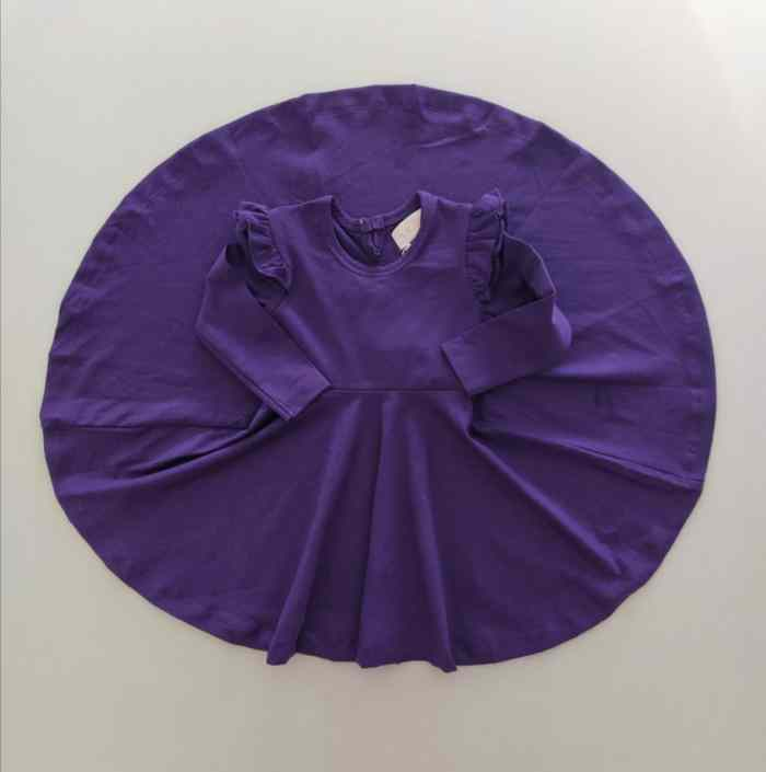 Violet long sleeve twirl dress