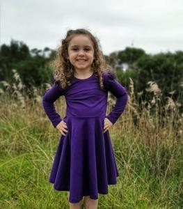 Gorgeous girl wearing twirly dress