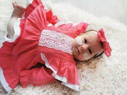Newborn in vintage dress